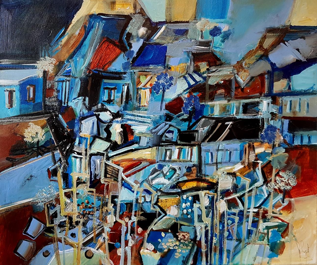 Muriel Cayet - Des villages avec maisons