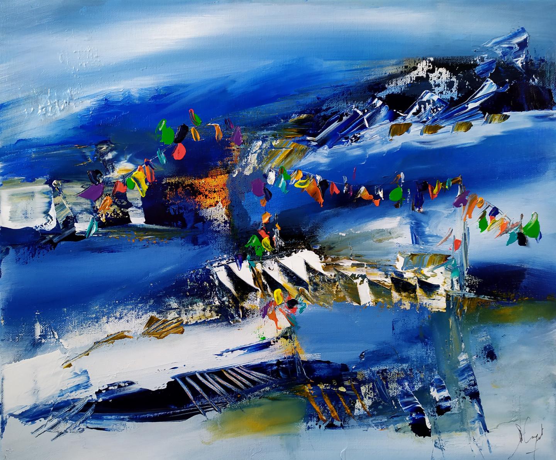 Muriel Cayet - Le chemin bleu de Tenzin Y.