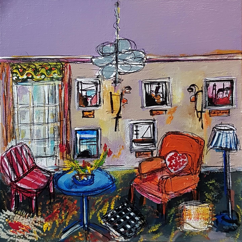 Muriel Cayet - Une table bleue