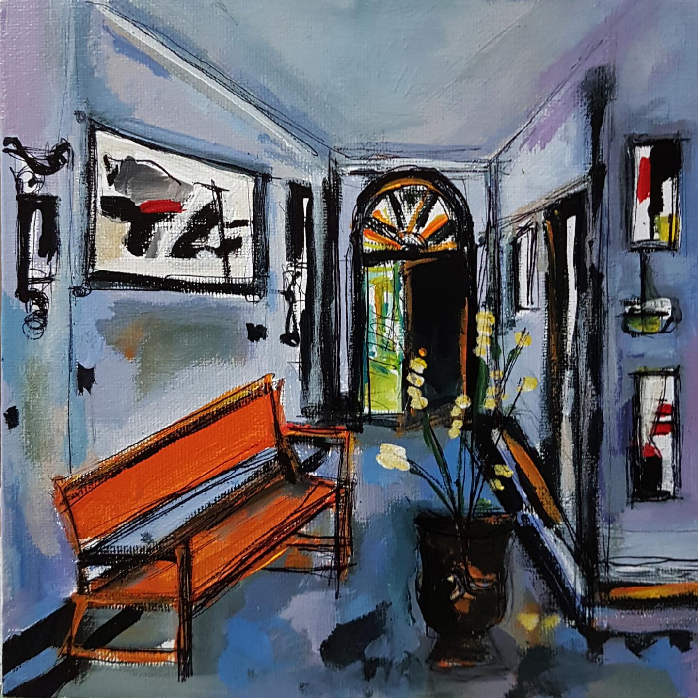 Muriel Cayet - L'entrée de l'artiste