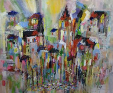 Pastel colorful village