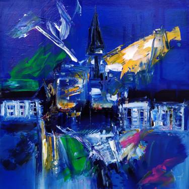 Centre village en bleu