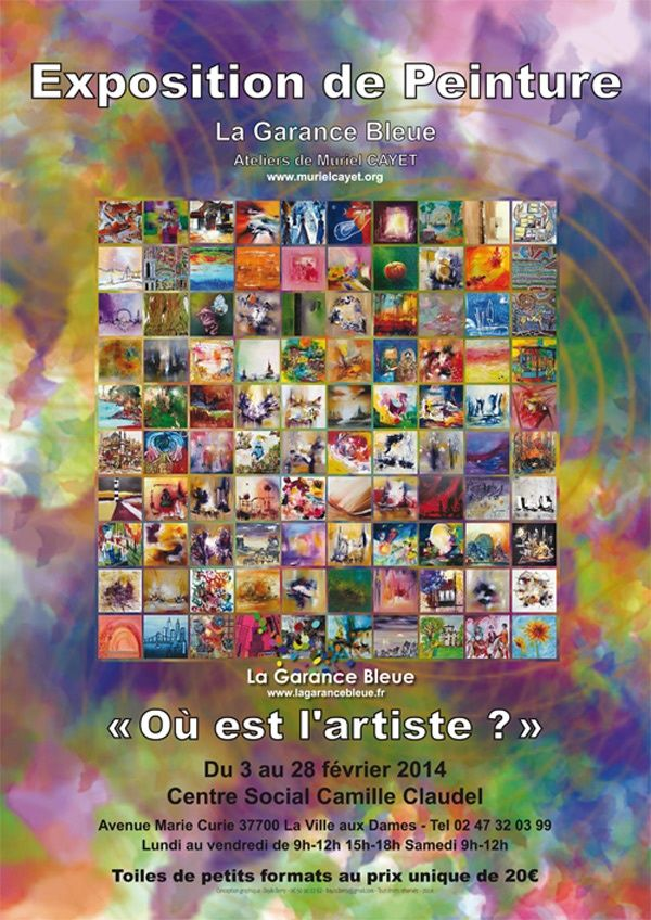 Exposition collective avec les artistes de La Garance Bleue