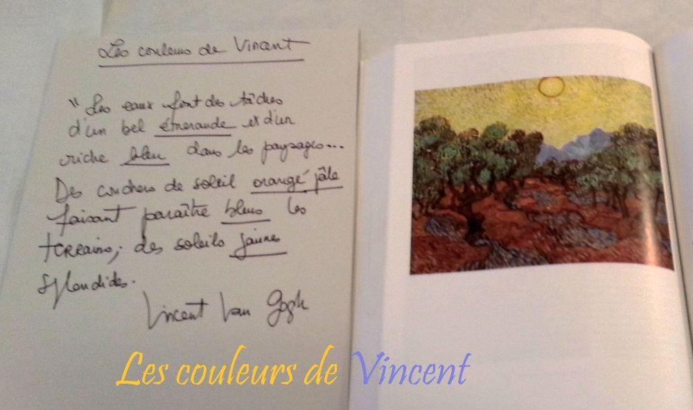 Un atelier autour des couleurs de Vincent
