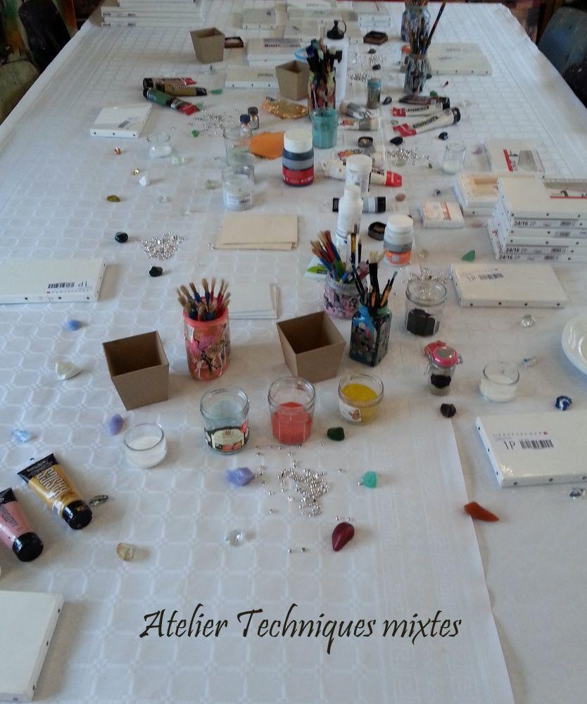 Un atelier Techniques mixtes