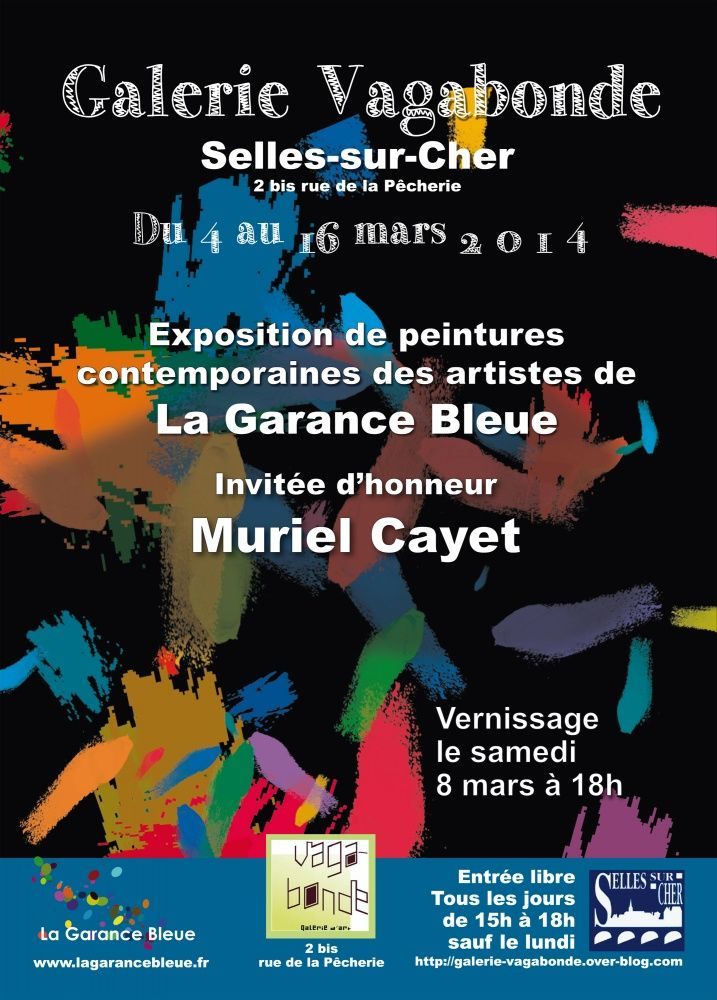 Exposition de 10 artistes du collectif de La Garance Bleue à Selles sur Cher