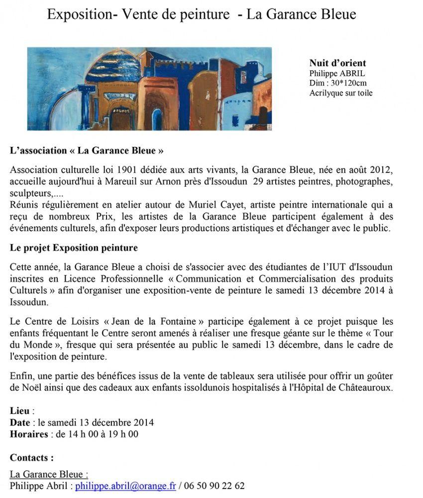 Projet d'exposition avec le collectif d'artistes La Garance Bleue