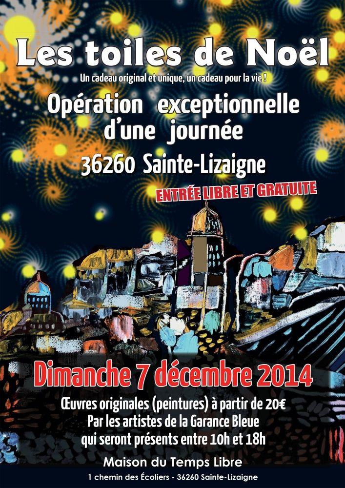 Les toiles de Noël à Argenton sur Creuse le 30/11/2014 et à Sainte Lizaigne le 7 /12/2014