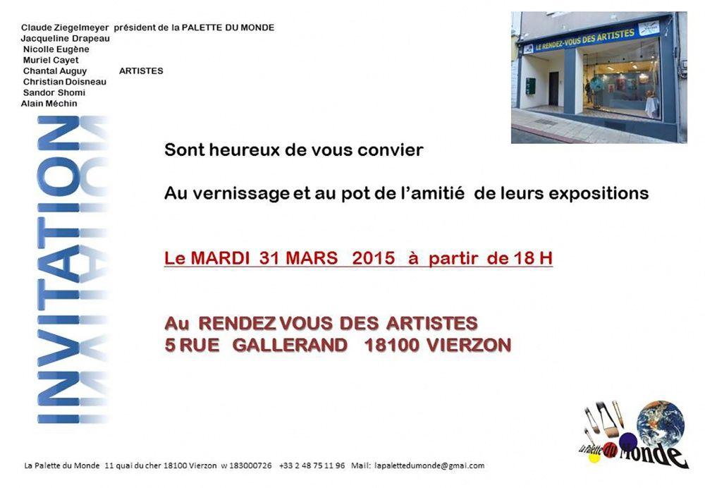 Vernissage de l'exposition Carrefour Vierzon