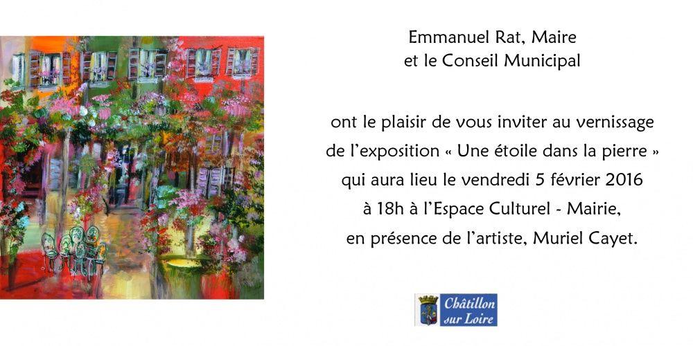 Vernissage de l'exposition à Châtillon sur Loire