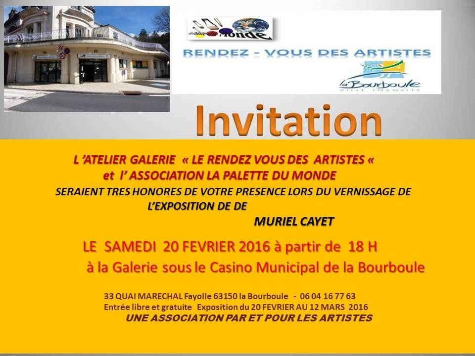 Vernissage de l'exposition à La Bourboule en février 2016