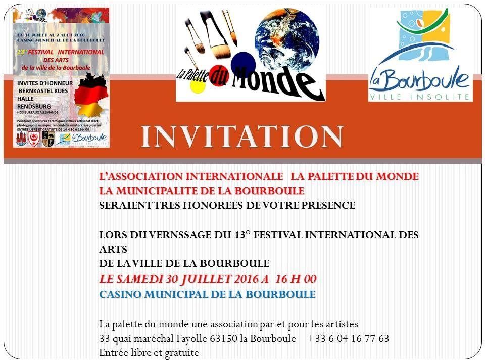 Festival International des Arts de la Bourboule 2016