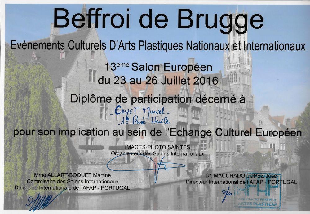 1 er Prix Huile à l'exposition de Brugge - Belgique