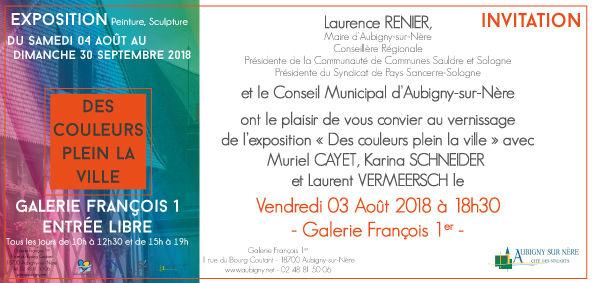Exposition collective à Aubigny Sur Nère (18)