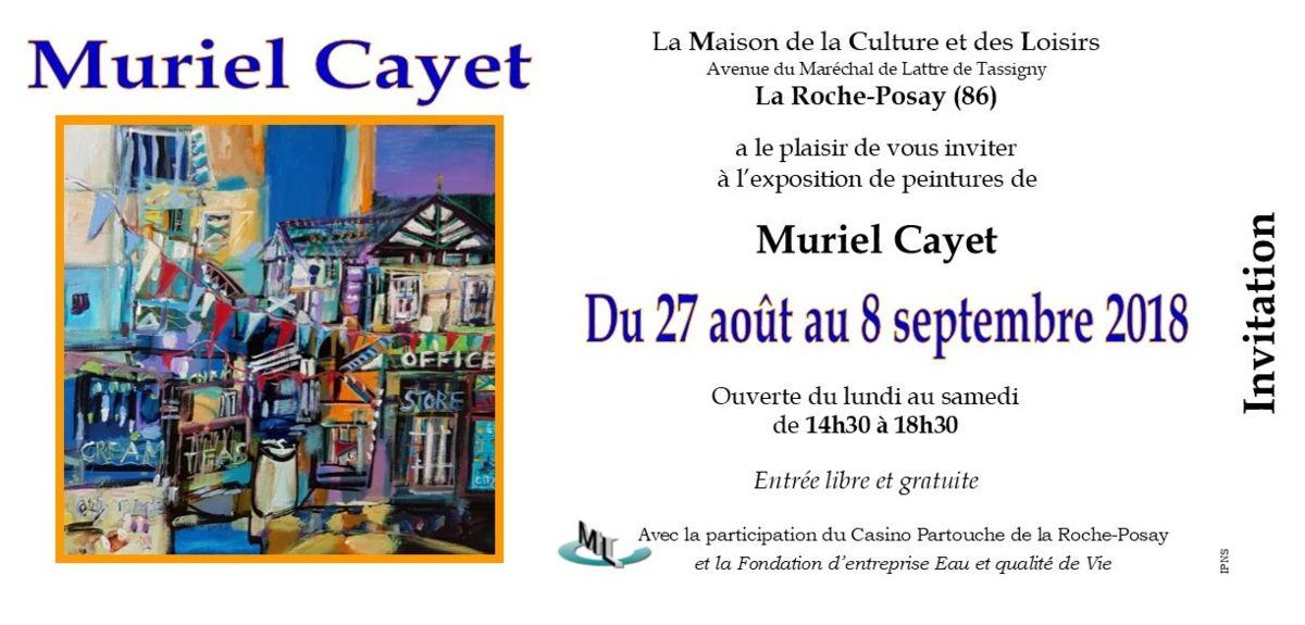Exposition personnelle à la MCL de la Roche Posay (86)