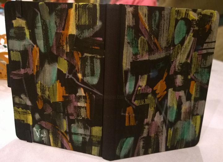 Carnet De Notes A6 En Tissu Peinture Acrylique 25022016